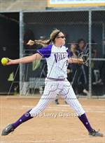 This MaxPreps.com professional photo features Valencia high school Shea O'Leary playing  Softball. This photo was shot by Larry Gasinski and published on Gasinski.