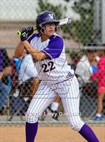 This MaxPreps.com professional photo features Valencia high school Julia Fuentes playing  Softball. This photo was shot by Larry Gasinski and published on Gasinski.