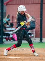 This MaxPreps.com professional photo features Claremore high school Hannah Rackleff playing  Softball. This photo was shot by Ryan Coody and published on Coody.