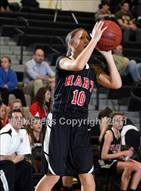 This MaxPreps.com professional photo is from the gallery Hart @ Golden Valley which features Hart high school athletes playing Girls Basketball.