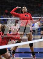 This MaxPreps.com professional photo is from the gallery Eaglecrest vs. Denver East (CHSAA 5A Playoff) which features Eaglecrest high school athletes playing  Volleyball.