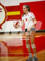 This MaxPreps.com professional photo features Seton Catholic high school Jessica Kuras playing  Volleyball. This photo was shot by Jim Willittes and published on Willittes.