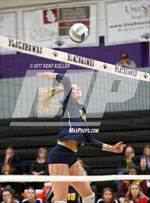 This MaxPreps.com professional photo features Clarkston high school Kayla Luchenbach playing  Volleyball. This photo was shot by Kent Koller and published on Koller.