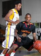 This MaxPreps.com professional photo is from the gallery Dominguez vs. Lynwood which features Dominguez high school athletes playing  Basketball.