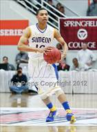 This MaxPreps.com professional photo is from the gallery Findlay Prep vs. Simeon (Spalding Hoophall Classic) which features Simeon high school athletes playing  Basketball.