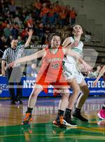 This MaxPreps.com professional photo features Fredonia high school Caitlyn Cybart playing Girls Basketball. This photo was shot by William Pine and published on Pine.