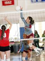 This MaxPreps.com professional photo features St. Francis high school Martina Lasich playing  Volleyball. This photo was shot by Dennis Marpuri and published on Marpuri.