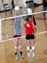 This MaxPreps.com professional photo features St. Francis high school Sabrina Webb playing  Volleyball. This photo was shot by Dennis Marpuri and published on Marpuri.
