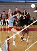 This MaxPreps.com professional photo features St. Francis high school Katherine Brown playing  Volleyball. This photo was shot by Dennis Marpuri and published on Marpuri.
