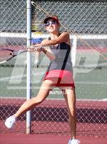 This MaxPreps.com professional photo is from the gallery Valley League Girls Tennis Championships which features Valley Center high school athletes playing Girls Tennis. This photo was shot by Scott Padgett and published on Padgett.