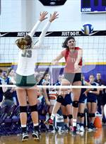 This MaxPreps.com professional photo is from the gallery Edison @ Harvard-Westlake (Durango Fall Classic) which features Edison high school athletes playing  Volleyball. This photo was shot by Jann Hendry and published on Hendry.