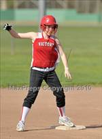This MaxPreps.com professional photo is from the gallery Victory Christian @ Sacramento Country Day which features Victory Christian high school athletes playing  Softball. This photo was shot by David Steutel and published on Steutel.
