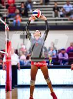 This MaxPreps.com professional photo features Lee high school DANIELLE ESPARZA playing  Volleyball. This photo was shot by Joe Calomeni and published on Calomeni.
