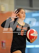 This MaxPreps.com professional photo is from the gallery Rosary Academy @ Mater Dei which features Rosary Academy high school athletes playing  Volleyball. This photo was shot by Ming Chung Lin and published on Lin.