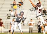 This MaxPreps.com professional photo features Golden high school , Joe Madsen and Michael Greeley playing  Football. This photo was shot by Geoffrey Sager and published on Sager.