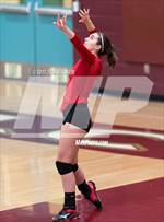 This MaxPreps.com professional photo features Carmel high school Kassidy Cosmero playing  Volleyball. This photo was shot by Ted Walker and published on Walker.