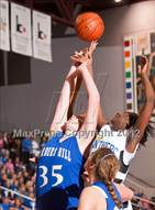 This MaxPreps.com professional photo is from the gallery Barbers Hill vs Ozen (UIL 4A Region 3 Final) which features Barbers Hill high school athletes playing Girls Basketball.