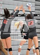 This MaxPreps.com professional photo is from the gallery Central vs. Mater Dei (Durango Fall Classic) which features Central high school athletes playing  Volleyball.