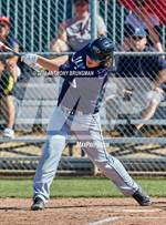 This MaxPreps.com professional photo features Vacaville Christian high school Tyler Creekmore playing  Baseball. This photo was shot by Anthony Brunsman and published on Brunsman.
