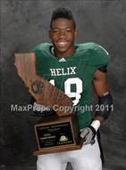 This MaxPreps.com professional photo is from the gallery Helix (CIF State D2 Awards) which features Helix high school athletes playing  Football.