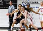 This MaxPreps.com professional photo is from the gallery Dublin vs. Carondelet (CIF NCS D2 Final) which features Carondelet high school athletes playing Girls Basketball.