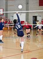 This MaxPreps.com professional photo is from the gallery Bakersfield @ Centennial (CIF CS Playoffs) which features Bakersfield high school athletes playing  Volleyball.