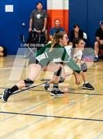 This MaxPreps.com professional photo features La Reina high school Tristan Strom and Ava Brooke playing  Volleyball. This photo was shot by Jon Osumi and published on Osumi.