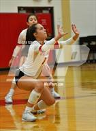 This MaxPreps.com professional photo is from the gallery Bryan @ Cypress Woods which features Cypress Woods high school athletes playing  Volleyball.
