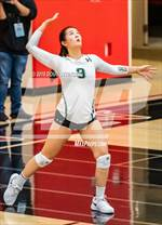 This MaxPreps.com professional photo features Harker high school Katrina Liou playing  Volleyball. This photo was shot by Doug Stringer and published on Stringer.
