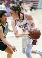 This MaxPreps.com professional photo features Sacred Heart Prep high school Tatum Angotti playing Girls Basketball. This photo was shot by Ted Walker and published on Walker.
