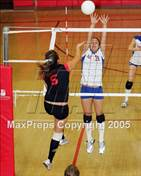 This MaxPreps.com professional photo is from the gallery St. Joseph Notre Dame @ Salesian which features Salesian College Preparatory high school athletes playing  Volleyball.