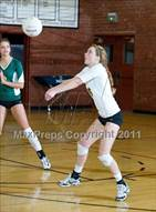 This MaxPreps.com professional photo is from the gallery La Reina @ Bishop Diego which features La Reina high school athletes playing  Volleyball.