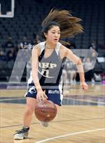 This MaxPreps.com professional photo features Rolling Hills Prep high school Lauren Tsuji playing Girls Basketball. This photo was shot by David Steutel and published on Steutel.