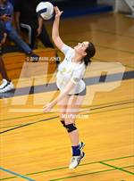 This MaxPreps.com professional photo features Prescott high school Angelina Jennison playing  Volleyball. This photo was shot by Mark Jones and published on Jones.