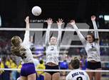 This MaxPreps.com professional photo features Middle Park high school , Sammy Phillips playing  Volleyball. This photo was shot by Matt Daniels and published on Daniels.