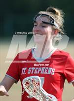 This MaxPreps.com professional photo features St. Stephens high school Ashley Sierzenga playing Girls Lacrosse. This photo was shot by Craig Curtis and published on Curtis.