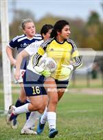 This MaxPreps.com professional photo features Holy Cross high school Alyssa Patino playing Girls Soccer. This photo was shot by Joe Calomeni and published on Calomeni.