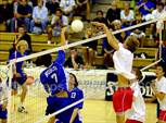 This MaxPreps.com professional photo features Norco high school Russ Adams playing Boys Volleyball. This photo was shot by Jann Hendry and published on Hendry.