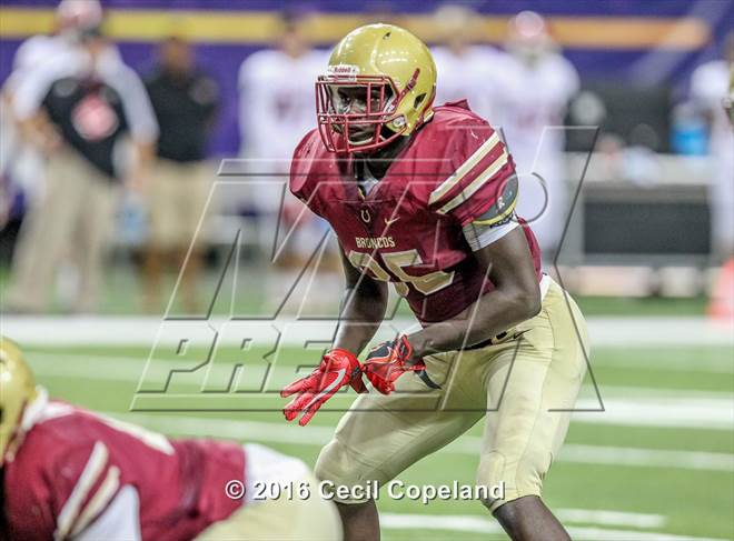 This MaxPreps.com professional photo is from the gallery National Signing Day: Top Linebackers and Defensive Backs which features athletes playing  Football. This photo was shot by Cecil Copeland and published on Copeland.