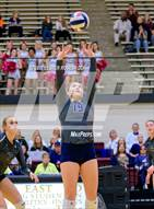 This MaxPreps.com professional photo is from the gallery Clark vs. Smithson Valley (UIL 6A Bi-District Playoffs) which features Smithson Valley high school athletes playing  Volleyball.