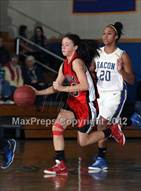 This MaxPreps.com professional photo is from the gallery Masuk @ Bacon Academy (CIAC Class L 2nd Round) which features Bacon Academy high school athletes playing Girls Basketball.