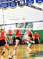 This MaxPreps.com professional photo is from the gallery Village Christian vs. Pleasant Grove (Durango Fall Classic) which features Village Christian high school athletes playing  Volleyball. This photo was shot by Jann Hendry and published on Hendry.