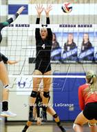 This MaxPreps.com professional photo is from the gallery Carroll @ Hebron which features Hebron high school athletes playing  Volleyball.