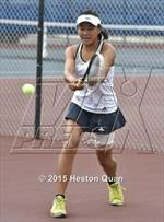 This MaxPreps.com professional photo is from the gallery Villa Park @ Fountain Valley which features Villa Park high school athletes playing Girls Tennis. This photo was shot by Heston Quan and published on Quan.