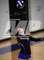 This MaxPreps.com professional photo features Resurrection Christian high school Bryce Lienemann playing  Volleyball. This photo was shot by Tom Hanson and published on Hanson.