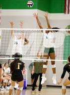 This MaxPreps.com professional photo is from the gallery Memorial vs Lebanon Trail which features Lebanon Trail high school athletes playing  Volleyball.