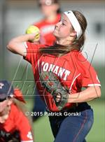 This MaxPreps.com professional photo features Conant high school Lauren Grzelak playing  Softball. This photo was shot by Patrick Gorski and published on Gorski.