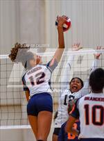This MaxPreps.com professional photo features Brandeis high school Jalyn Gibson playing  Volleyball. This photo was shot by Joe Calomeni and published on Calomeni.