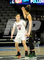 This MaxPreps.com professional photo features Lowell high school  and Olivia Pan playing Girls Basketball. This photo was shot by Samuel Stringer and published on Stringer.