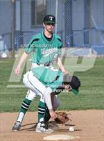 This MaxPreps.com professional photo features Tehachapi high school Josh Addington and Yeager Jarrett playing  Baseball. This photo was shot by Michael Duffy and published on Duffy.